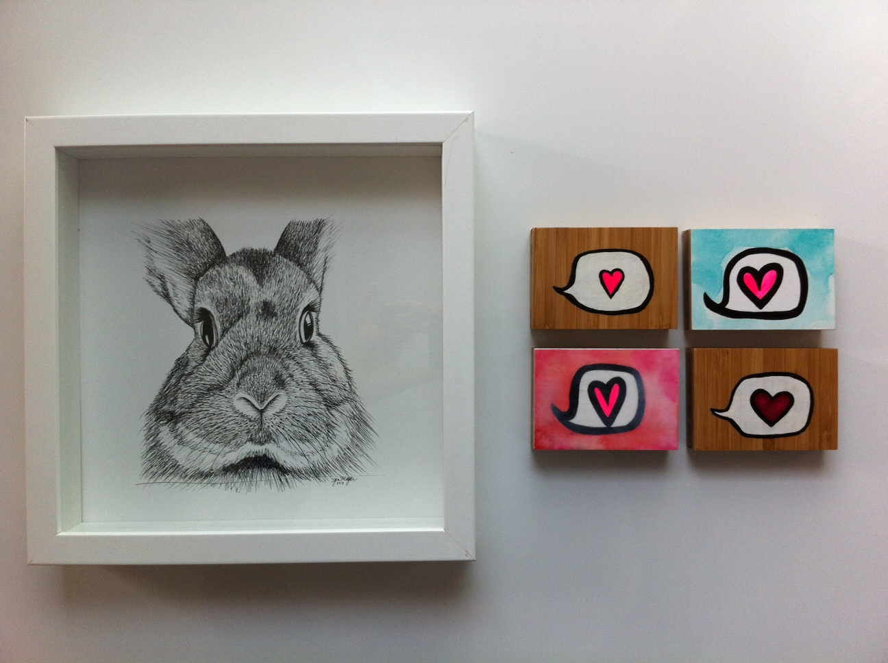 'Bunny' and 'Speak Love' #18,#19,#20 and #21 by Jen Meyer