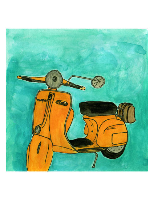 Orange-vespa-from-san-franc
