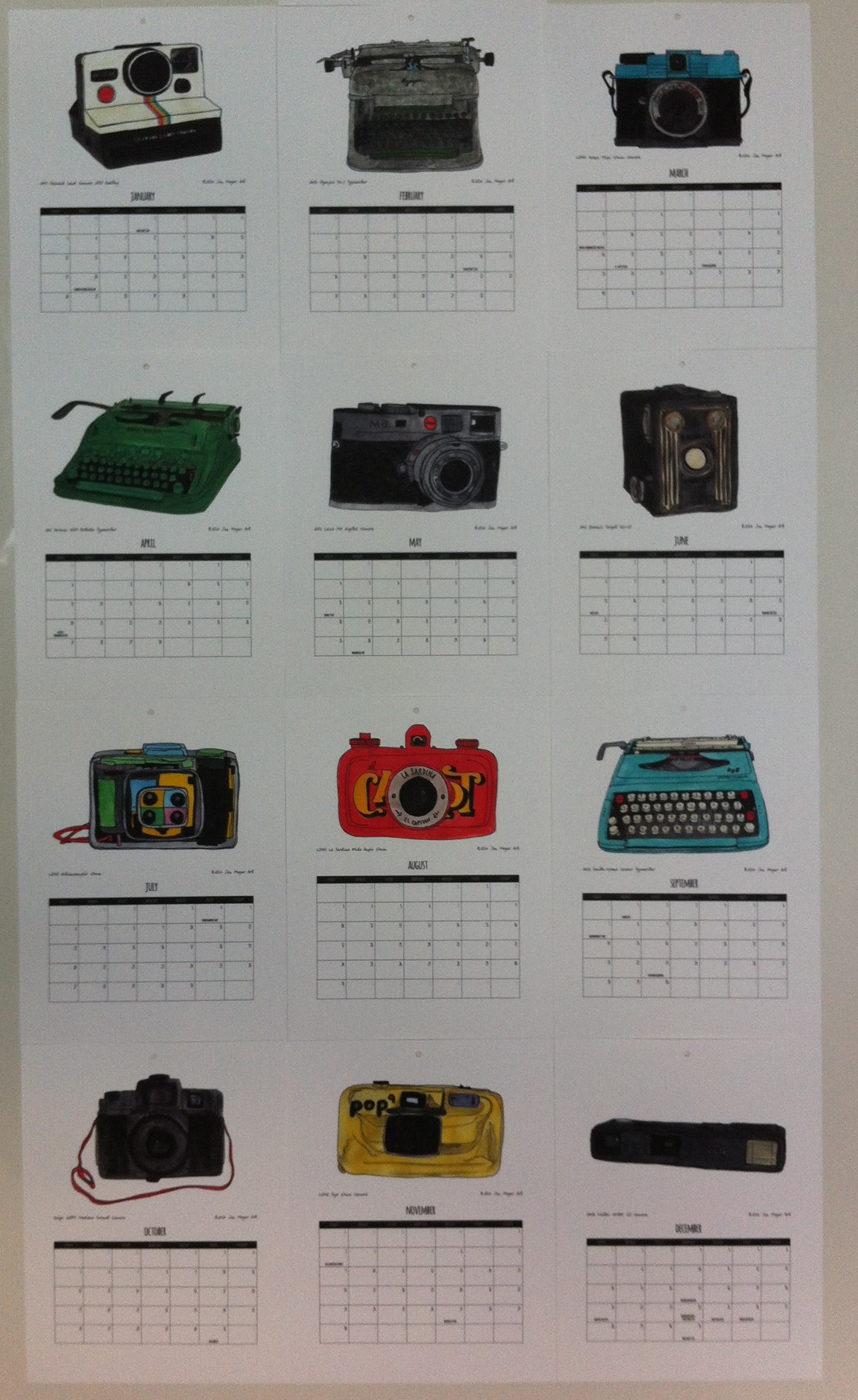 2014 calendar by Jen Meyer