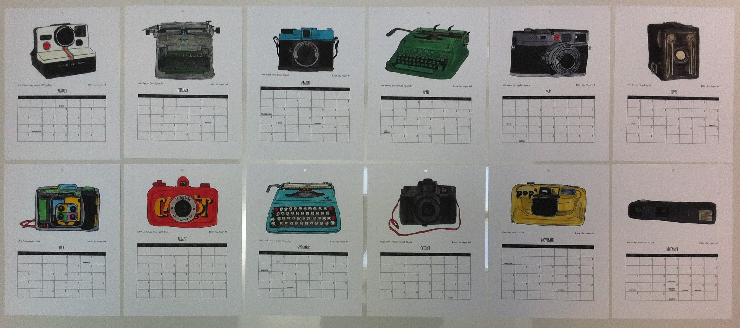 2014 calendar display by Jen Meyer