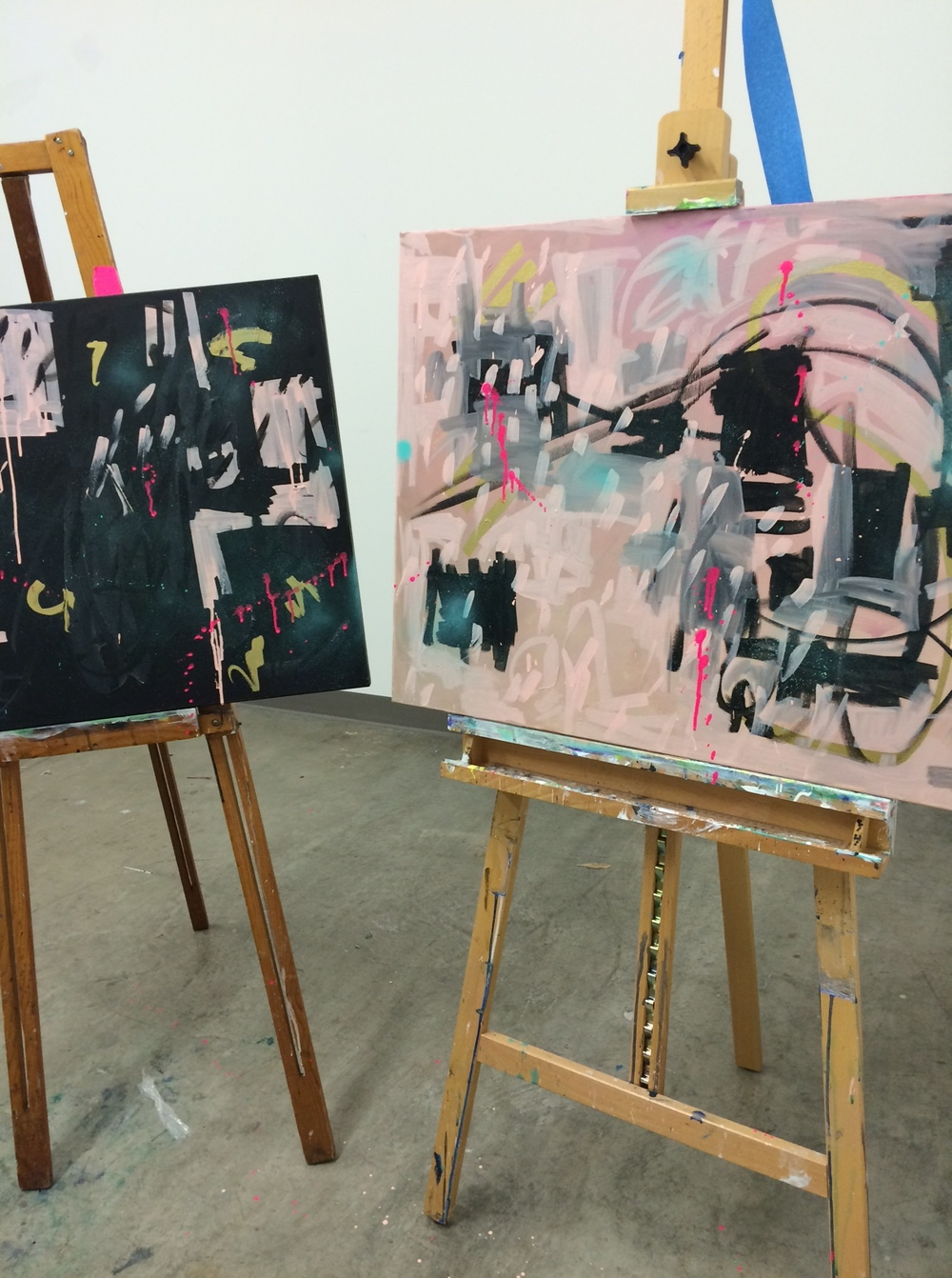painting at studioAugust 2015