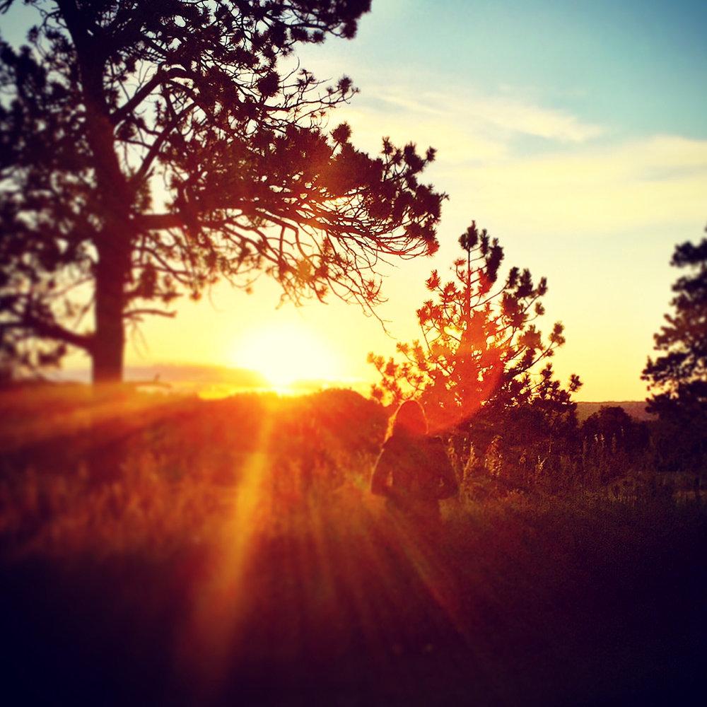 Morning sunrise at Shambhala Mountain Center, Red Feather Colorado