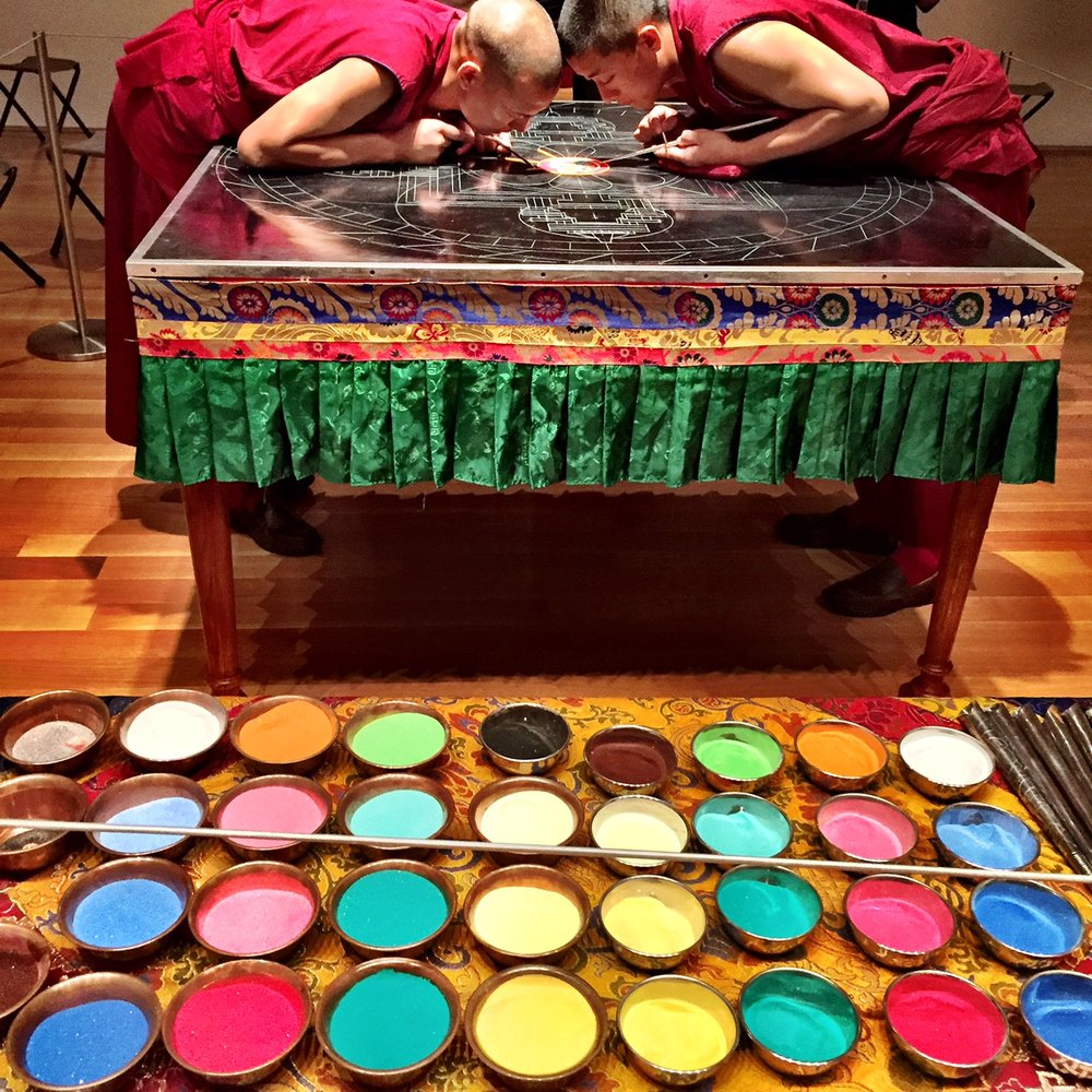 Mandala making at the Houston Asia Society, August 2016
