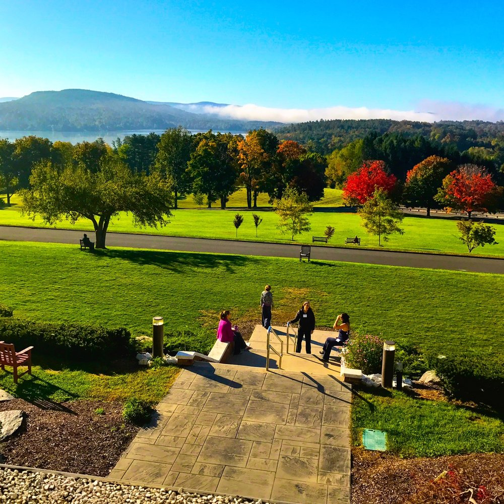 View from the front steps at Kripalu