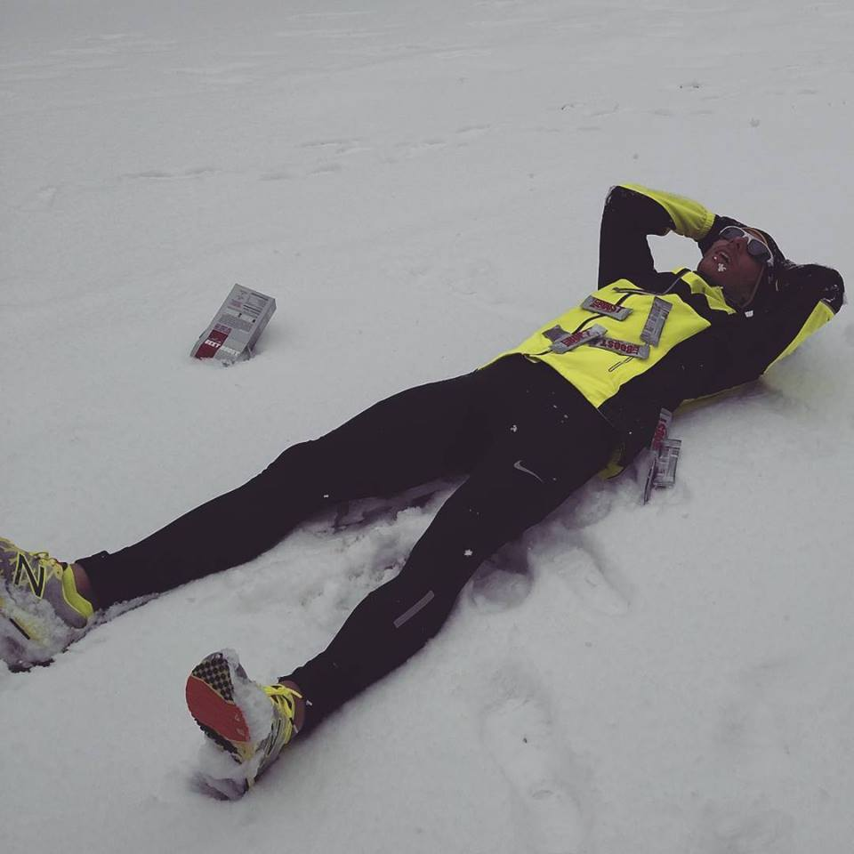 My feet didn't hurt immediately after the run, outside the normal aches that come with running 22 miles in the snow.
