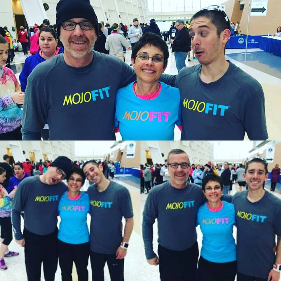 Post-race silliness with mom and dad :)