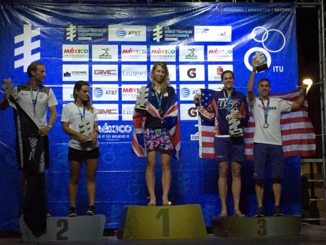 Sharing the podium with a fellow American!