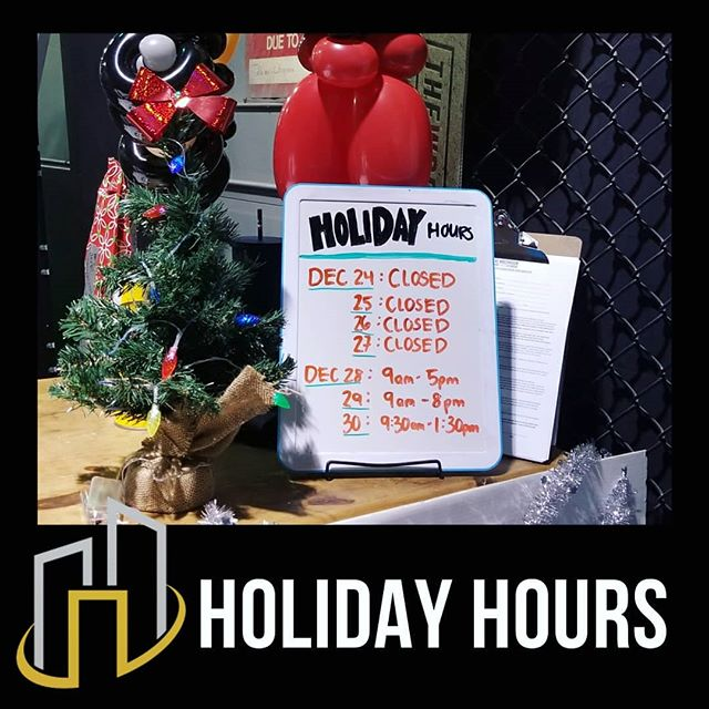 💥HOLIDAY HOURS: . We are closed from December 24 - 27 and are open December 28 - 30 with modified hours!!! . Have a Merry Christmas and enjoy your time with loved ones!!! . ♥️ The Wreckroom