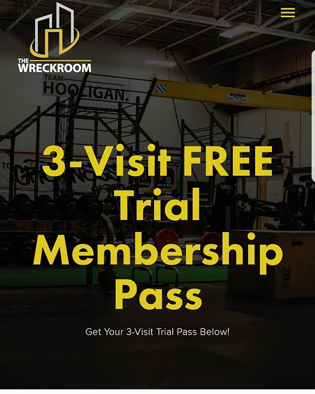 Have you tried out our facility yet? The best atmosphere to crush any fitness goal... you just need to come try it out and experience it first hand! . We have a 3-Visit FREE pass available on our website! (link is in our bio, or check out www.wreckroomfitness.com/3visit)
