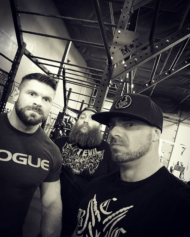 Coaches @titan__training , @unholy.strength and @lukasaquilina take a boy band photo before training. #cute #madfaces #lift #workout #training #power #strength #gym #calisthenics #strongman #powerlifting #fitness #strong #crossfit