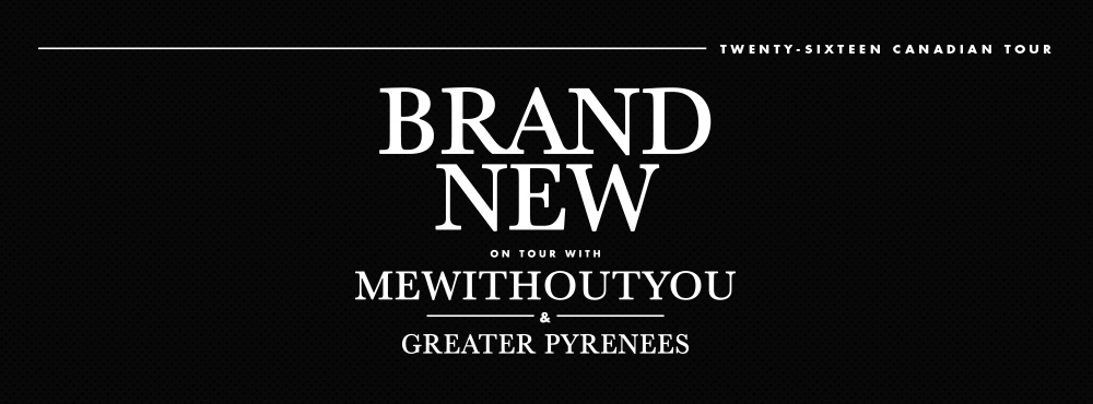 Brand New, mewithoutYou, and Greater Pyrenees on tour in Canada this June