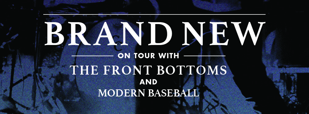 Brand New fall tour with The Front Bottoms and Modern Baseball, now on sale