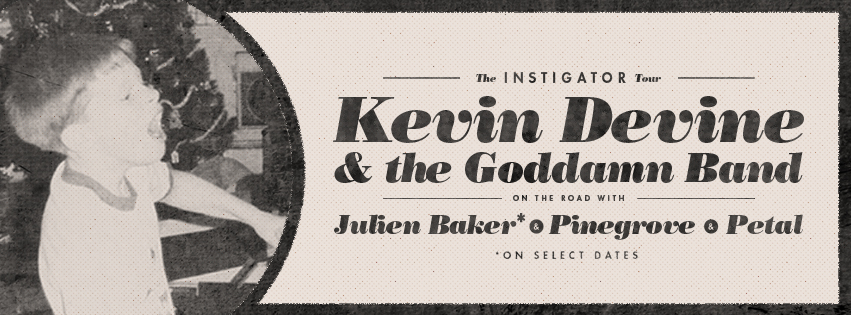 Kevin Devine's fall tour for LP9, Instigator.