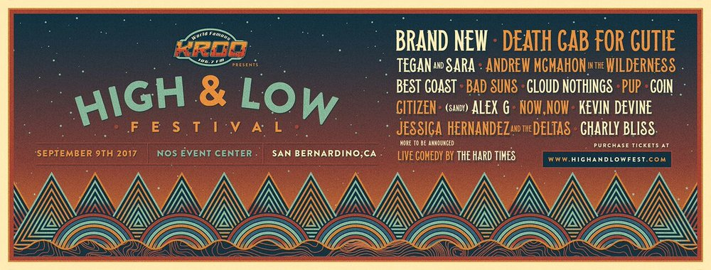 High and Low Fest features Brand New and Kevin Devine