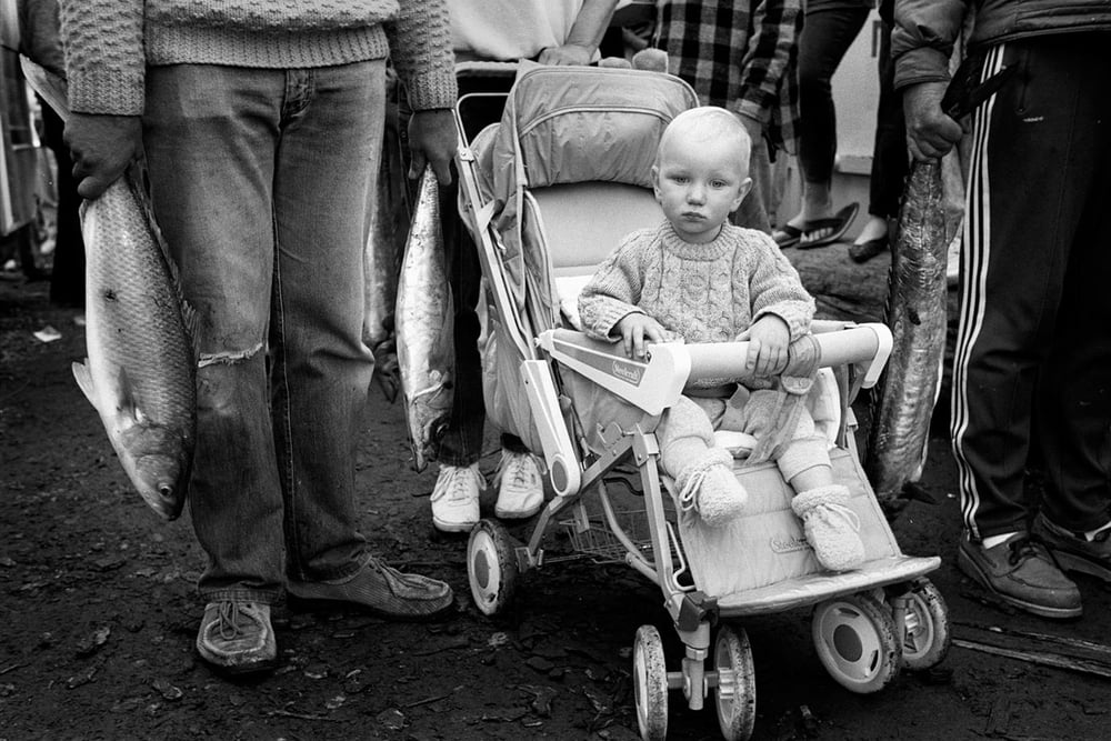 Fishing Competition, Port Chalmers, 1991, Bruce Foster NZ