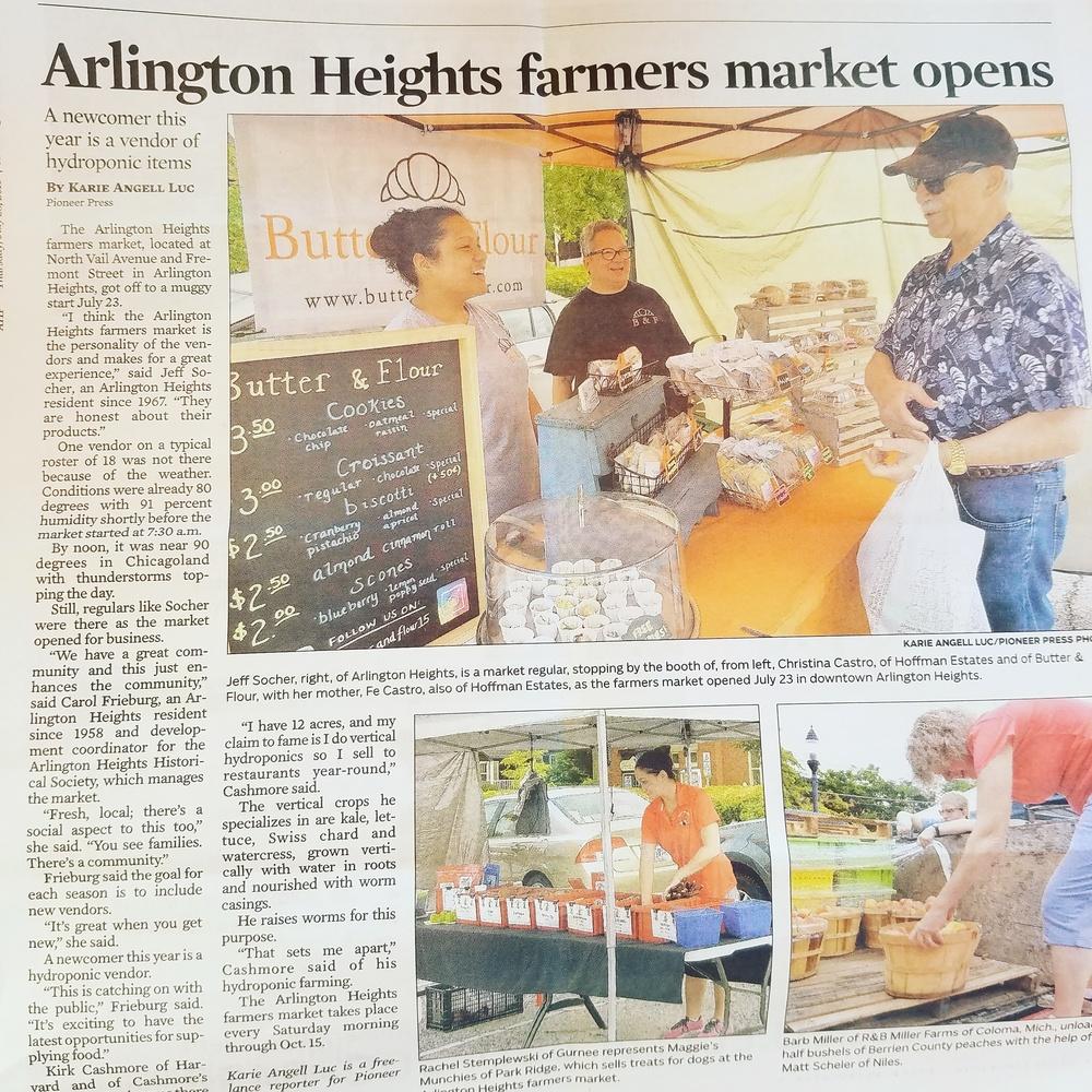 Chicago Tribune: 2016 Arlington Height's Farmers Market