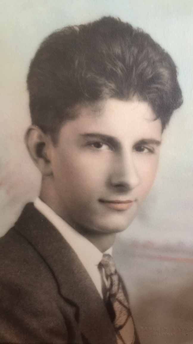 A young Edmondo Mignini, my Italian Grandfather. (What a handsome dude--& look at that hair!)