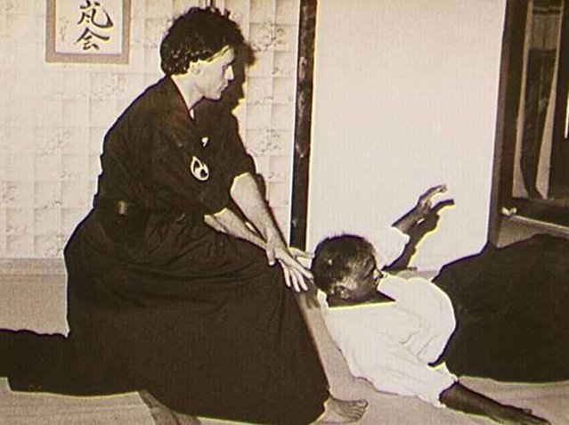 Sastri Sensei (right) training under the tutelage of Vilaire Sensei (left).