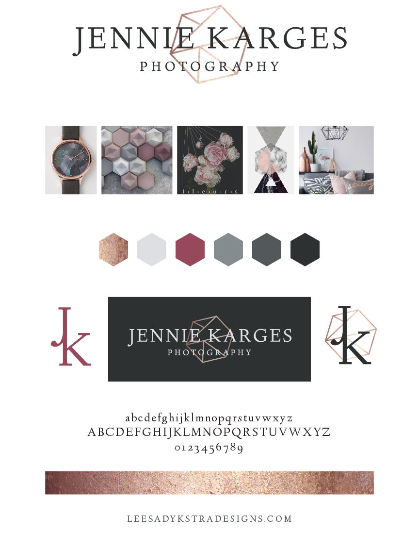 Brand Board for Jennie Karges Photography by Leesa Dykstra Designs