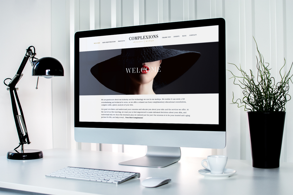 Complexions Skincare Medspa Website by Leesa Dykstra Designs