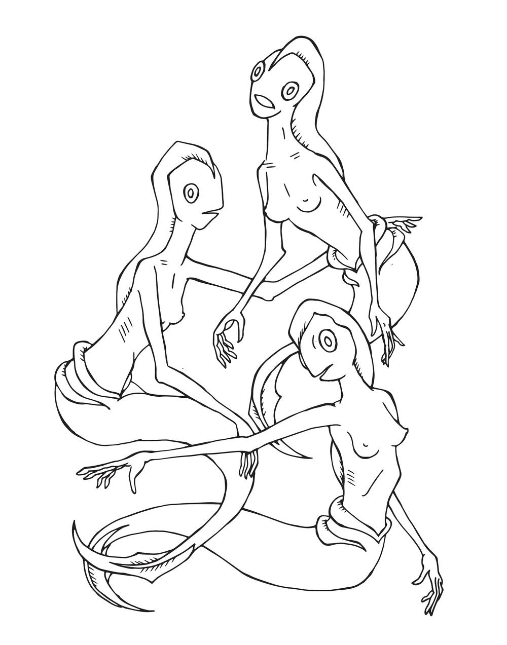 Drawing by Emma Halaburka