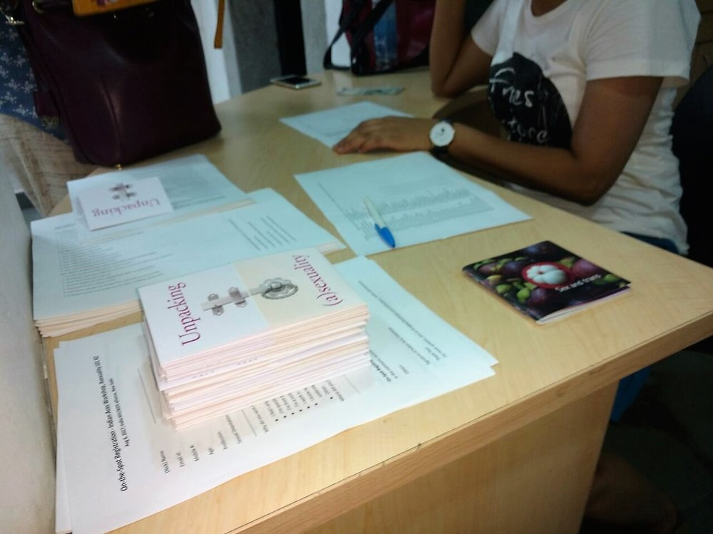 Photograph from Asexuality 101 showing materials on asexuality distributed during the workshop. (Used with permission from Indian Aces)