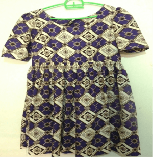 Mazuri Designs ankara print purple dress