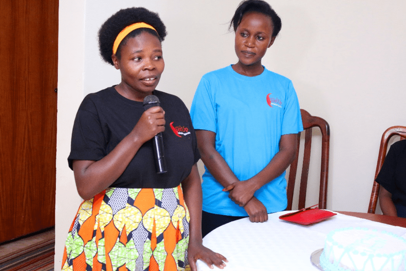 (Photo: Innocent Komugisha during her speech)