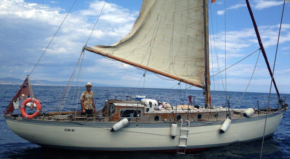 Dave Baird aboard Gemini