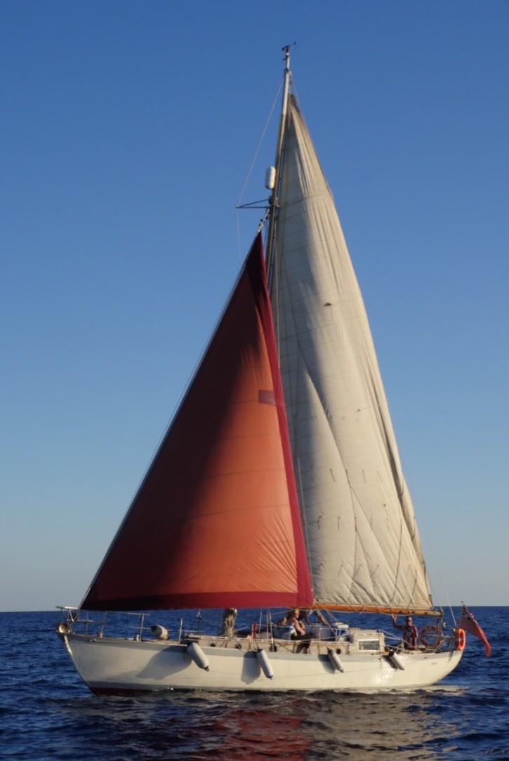 Dave Baird at sea
