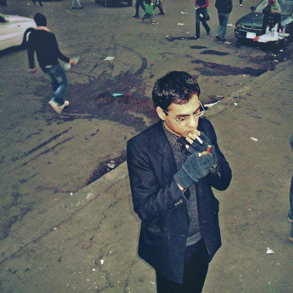 Cairo Tahrir Ahmed Tarek Bahgat Abaza كلسلي أباظة Kelsely Abaza sexy 6 bw.jpg
