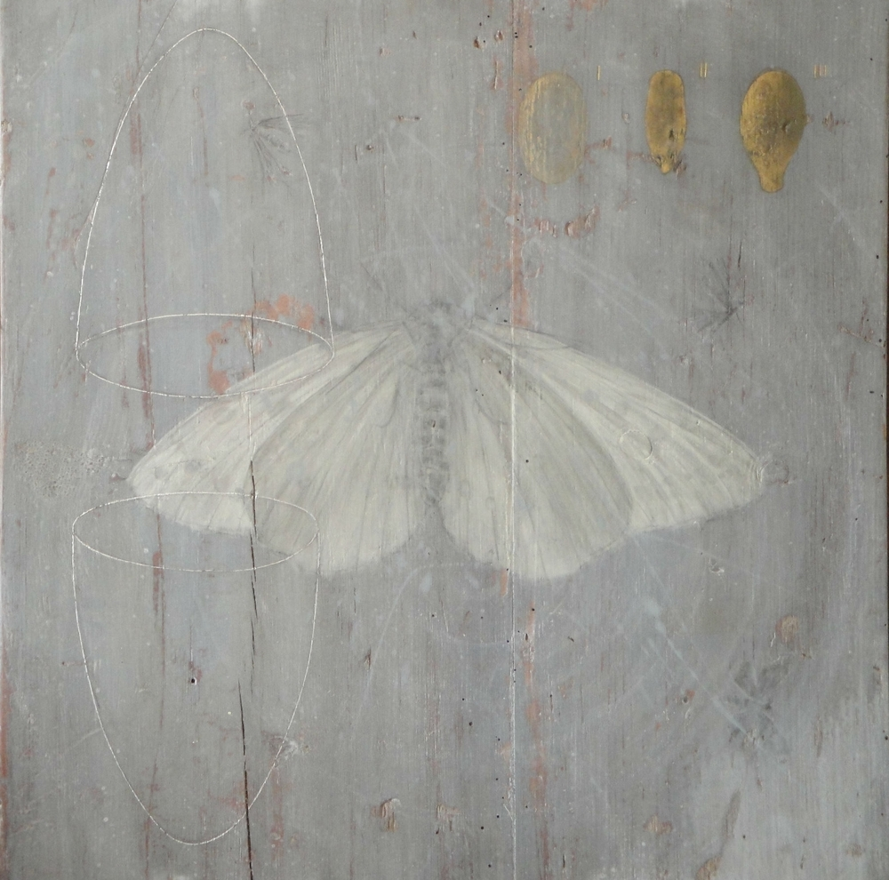 Endurance I - egg tempera, gold leaf on wooden panel 46 x 46 cm