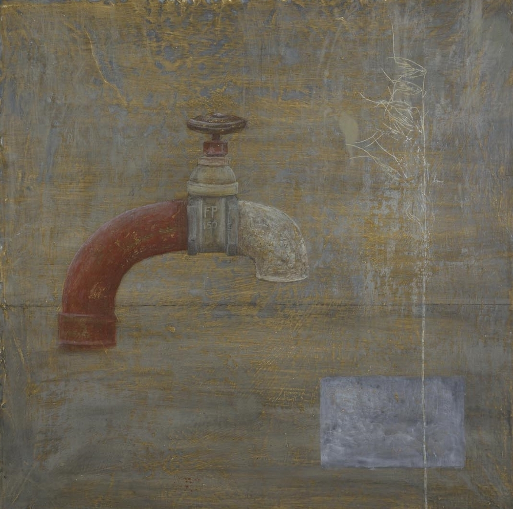 Tap - egg tempera on gessoed cloth 52 x 52 cm