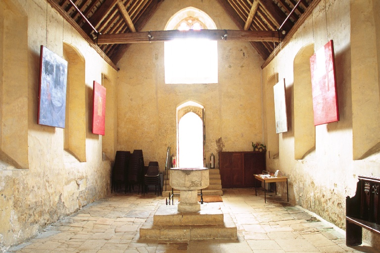 Farleigh Hungerford Castle Chapel, frescoes painted during residency.