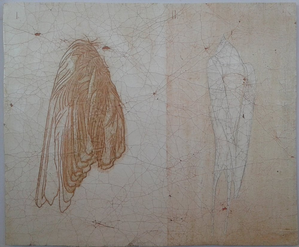 Book of Angels III - egg tempera on gessoed cloth 17 x 25 cm