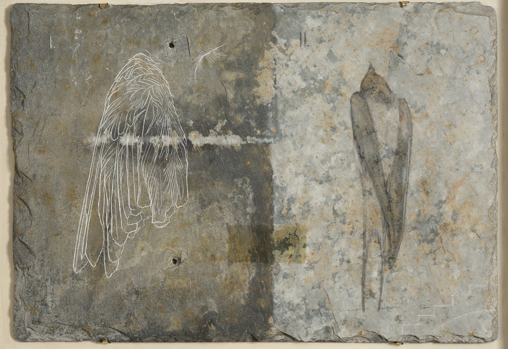 Book of Angels I - egg tempera on slate 36 x 51 cm