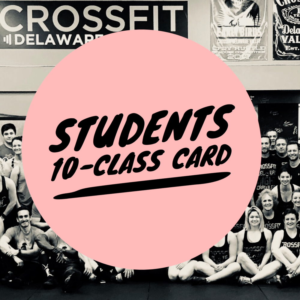 $120 - Ten class punchcard (CrossFit, Bootcamp or Barbell Club)Expires after one year