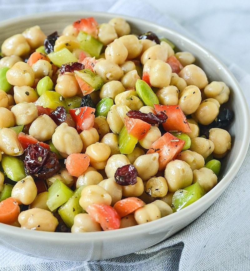 Chickpea Edamame Salad - Prep Time - 10 minutes8 Servings