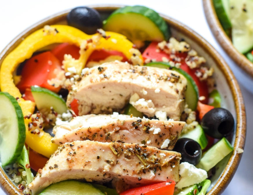 Greek Chicken Bowls - Prep Time - 10 minutesCook Time - 40 minutes2 Servings