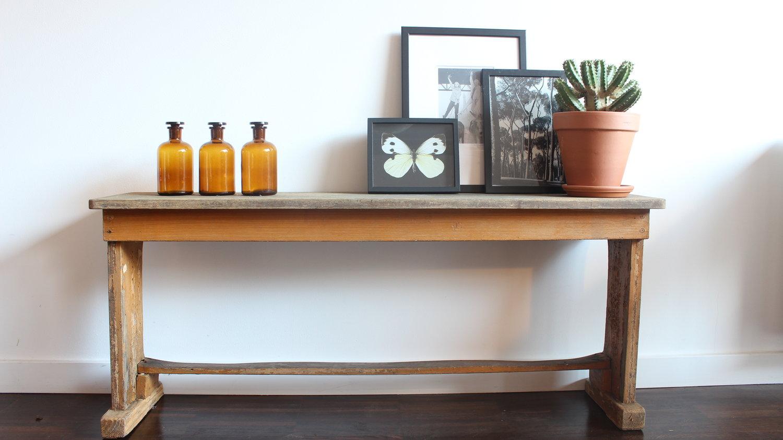 vintage houten bankje vintage houten bankje interieur accessoires