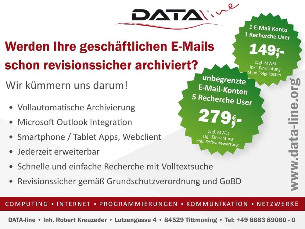 Angebot E-Mail-Archivierung