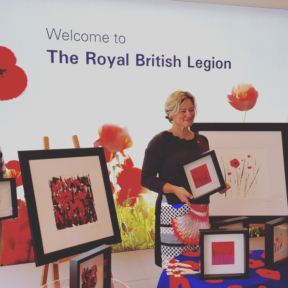 Press Launch Day or my Poppy Paintings