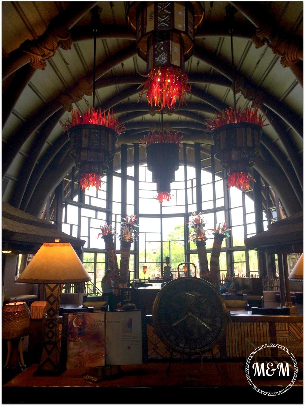 The lobby at Kidani Village, Animal Kingdom Lodge