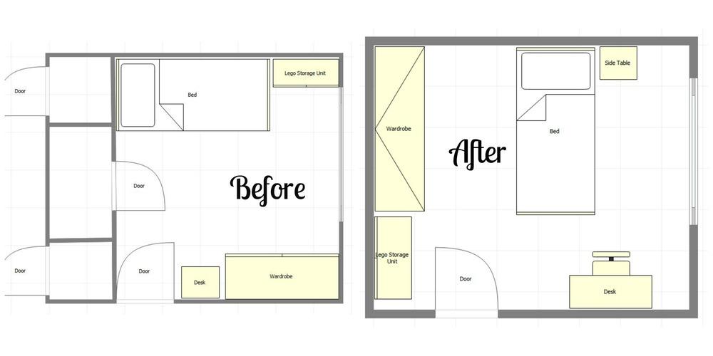 Room Design, Bedroom Design, Before and After, Kids Bedroom Design, Interiors, Home Interiors