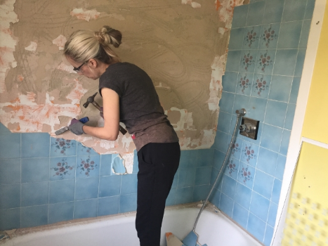 Removing The Tiles, Home Renovation, Bathroom Makeover