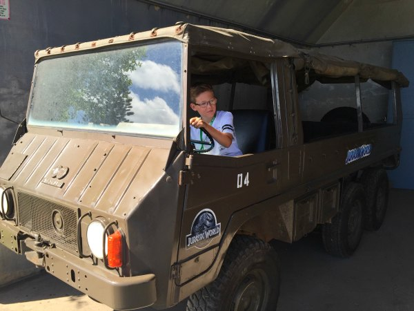 Sitting In The Brown Truck From Jurassic World