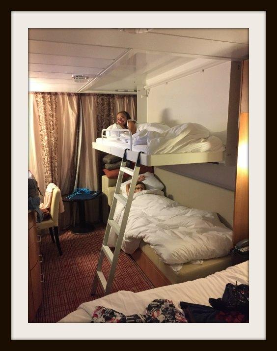 Sleeper Bed, Stateroom, Celebrity Eclipse, Celebrity Cruise, Family, Family Cruise, Family Holiday