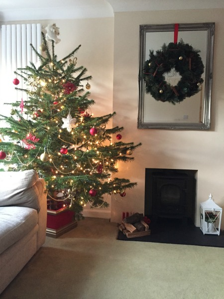 Christmas Tree, Christmas Decorations, Snowflake, Baubles, Log Burner, Fireplace, Lantern, Wreath, Fairy Lights