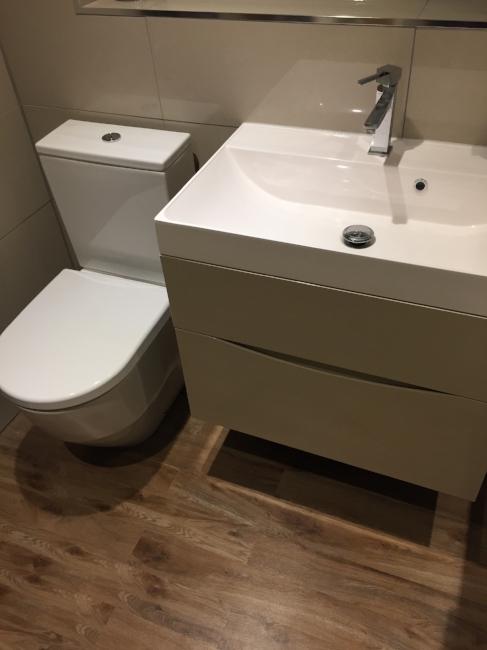 Bathroom, Sink, Vanity Unit, Bathroom Storage, Storage, Karndean, Flooring, Bathroom Flooring, Bathroom Renovation