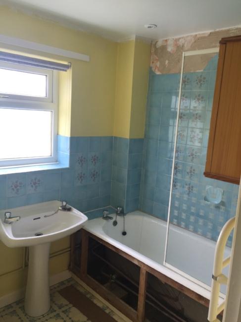 Bathroom, Bathroom Renovation, Laminate Flooring, Shower, Bath, Tiles, Sink